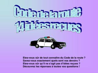 Code de la route   14 id es re ues
