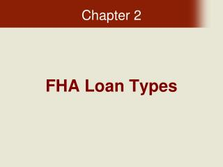 FHA Loan Types