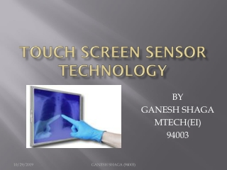 Capacitive Touch-Screens