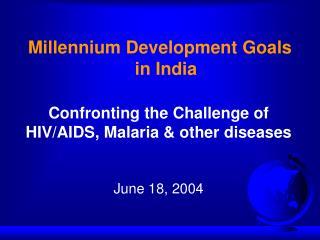 Millennium Development Goals in India