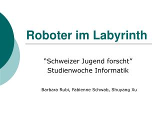 Roboter im Labyrinth