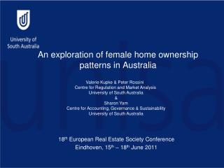 An exploration of female home ownership patterns in Australia