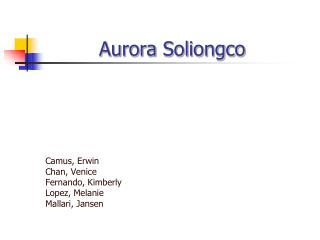 Aurora Soliongco