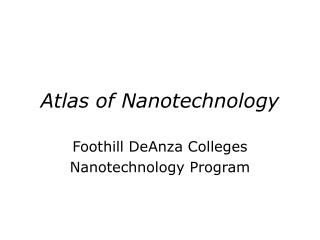 Atlas of Nanotechnology