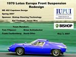 1970 Lotus Europa Front Suspension Redesign