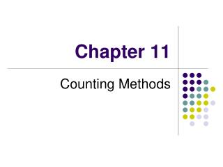 Counting Methods