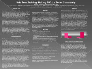 Safe Zone Training: Making FGCU a Better Community