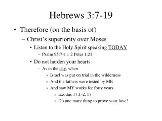 Hebrews 3:7-19