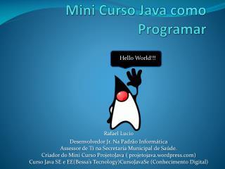 Mini Curso Java como Programar