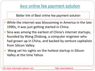 Useful information about best online fee payment solution