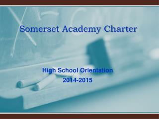 Somerset Academy Charter