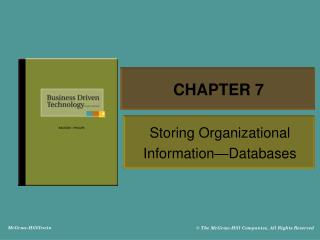 Storing Organizational Information Databases
