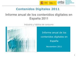 Contenidos Digitales 2011