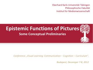 Epistemic Functions of Pictures  Some Conceptual Preliminaries