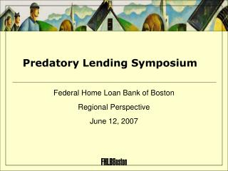 Predatory Lending Symposium