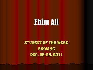 Fhim Ali