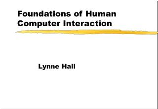 Foundations of Human Computer Interaction