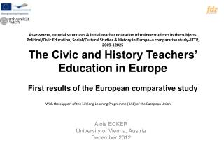 Alois ECKER University of Vienna, Austria December 2012