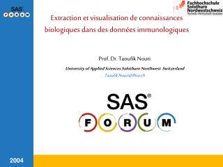Extraction et visualisation de connaissances biologiques dans des données immunologiques