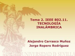 Tema 2. IEEE 802.11. TECNOLOGÍA INALÁMBRICA