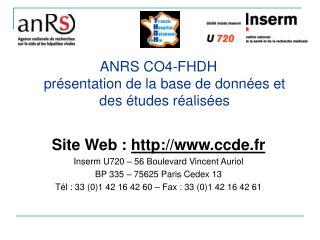 ANRS CO4-FHDH  présentation de la base de données et des études réalisées