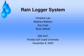 Rain Logger System