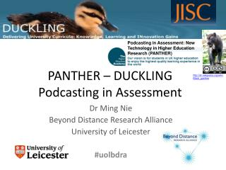 PANTHER – DUCKLING Podcasting in Assessment