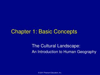 Chapter 1: Basic Concepts