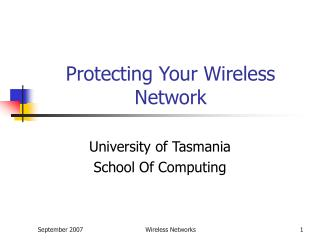 Protecting Your Wireless Network