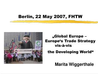 Berlin, 22 May 2007, FHTW