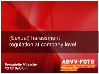 (Sexual) harassment regulation at company level