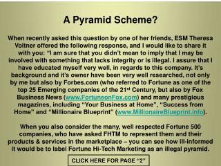 A Pyramid Scheme?