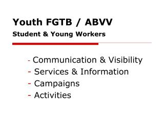 Youth FGTB / ABVV Student & Young Workers