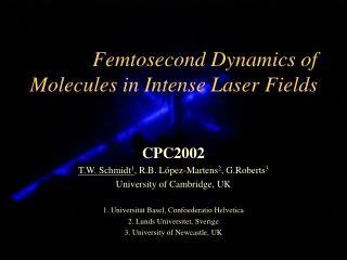 Femtosecond Dynamics of Molecules in Intense Laser Fields
