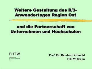 Prof. Dr. Reinhard Ginnold FHTW Berlin