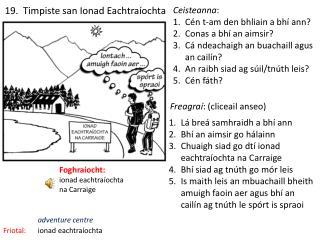 19.   Timpiste  san  Ionad Eachtra�ochta