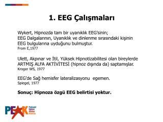1. EEG Çalışmaları
