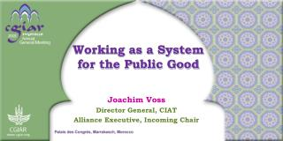 Working as a System for the Public Good