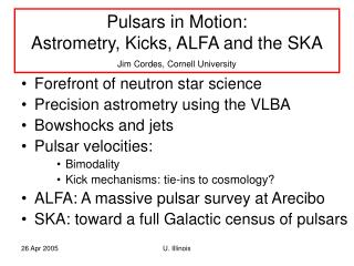 Forefront of neutron star science Precision astrometry using the VLBA Bowshocks and jets