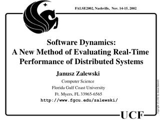 Software D y namic s: A New Method of Evaluating Real-Time  Performance of Distributed Systems