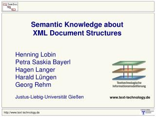 Semantic Knowledge about  XML Document Structures