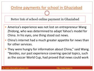 Useful information about online payment for school in Ghazia