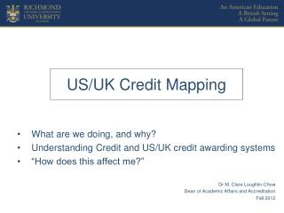 US/UK Credit Mapping