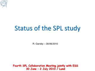 Status of the SPL study