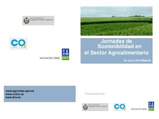Jornadas de Sostenibilidad en  el Sector Agroalimentario 24 Junio 2010-Madrid