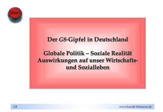 Der  G8 -Gipfel in Deutschland