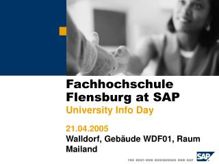 Fachhochschule Flensburg at SAP