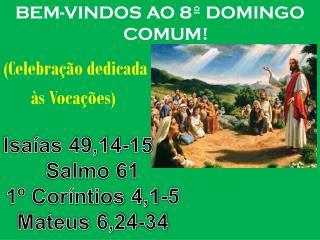BEM-VINDOS AO 8� DOMINGO COMUM! (Celebra��o dedicada        �s Voca��es)