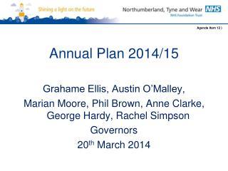Annual Plan 2014/15