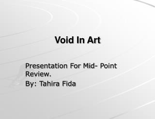 Void In Art